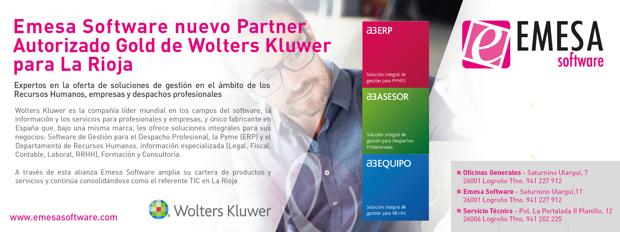 Emesa Software nuevo Partner Wolters Kluwer